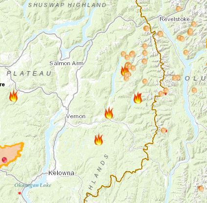 Recreation Sites Closed In Fire Zones