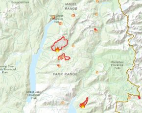 Almost 60 Firefighters on N Okanagan Wildfires