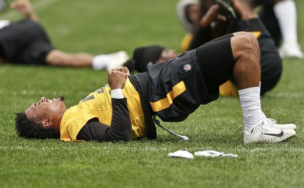 Steelers fan sneaks into practice - in FULL gear