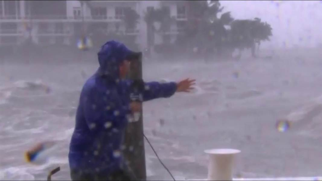 You make the call - did this TV weatherman sell the impact of the storm a little TOO much??