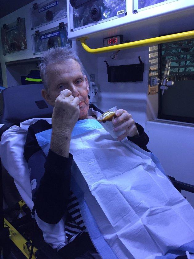 Paramedics grant dying man his last wish - ice cream!