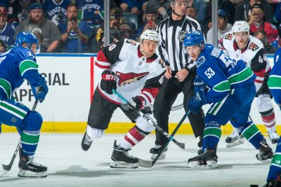 Coyotes Spoil Canucks Chance to Wow Kelowna Fans