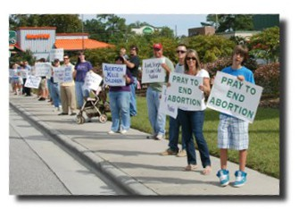 Pro Life Group Holds Life Chain
