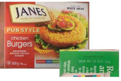 Check Your Chicken: Janes Chicken Burger Recall
