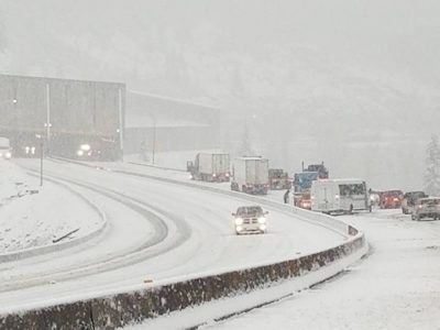 Winter Storm Hits Passes: Hwy 5 Closed