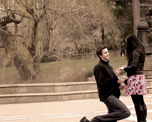 HOT TREND.......women proposing to men.