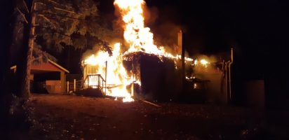Lake Country Fire Dept. Knock Down House Fire