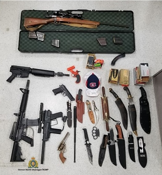 Weapons Seized From Sleepy Man