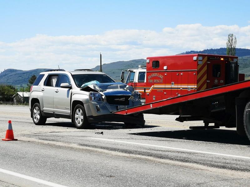Update: Highway crash sends people to hospital | Vernon Matters