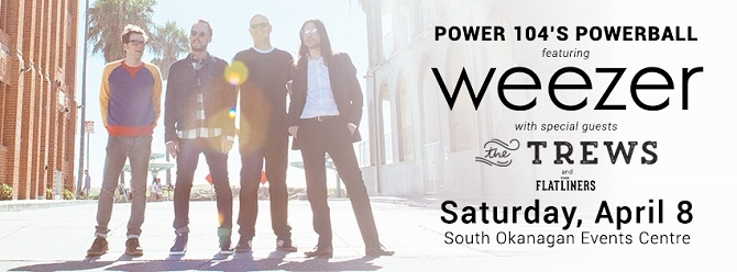WIN WEEZER TICKETS WITH POWER 104!