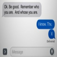 Dad gets coded text from Son
