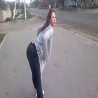 Twerking girl causes an accident