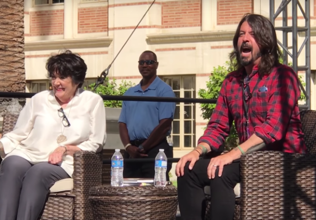 Dave Grohl interviews his mom