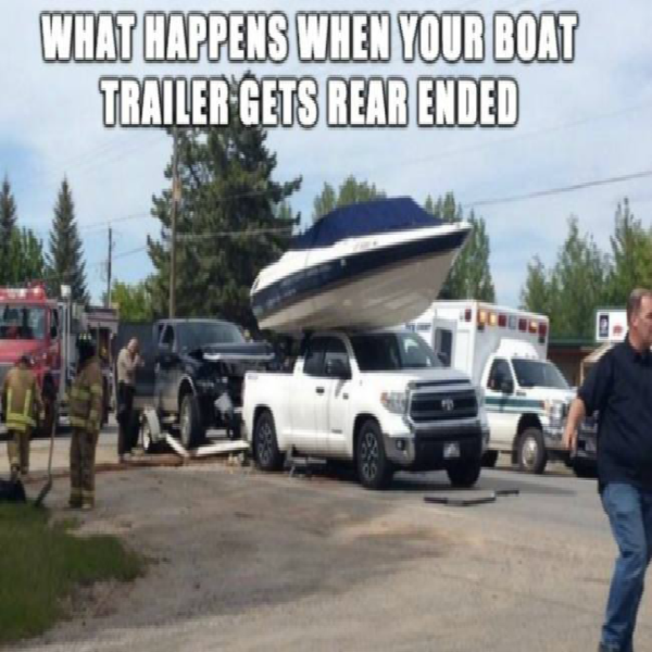 When your Boat Trailer get Rear-ended