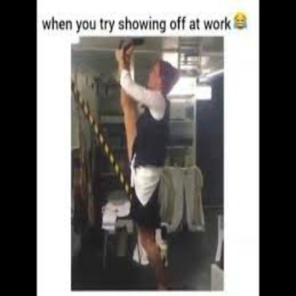 When you trying to showoff at work