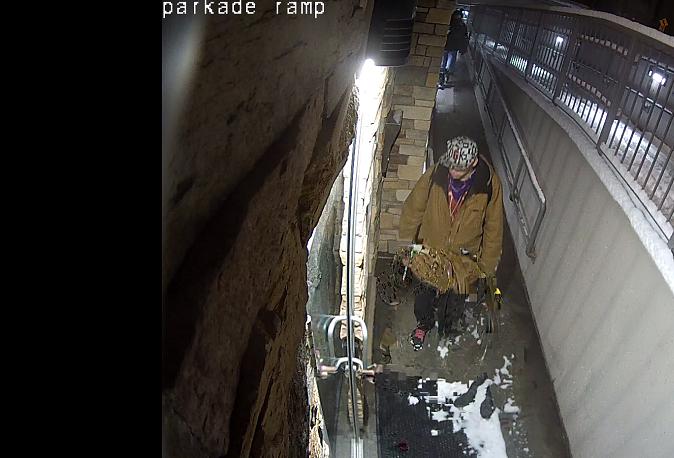 Secured parkade break in suspect