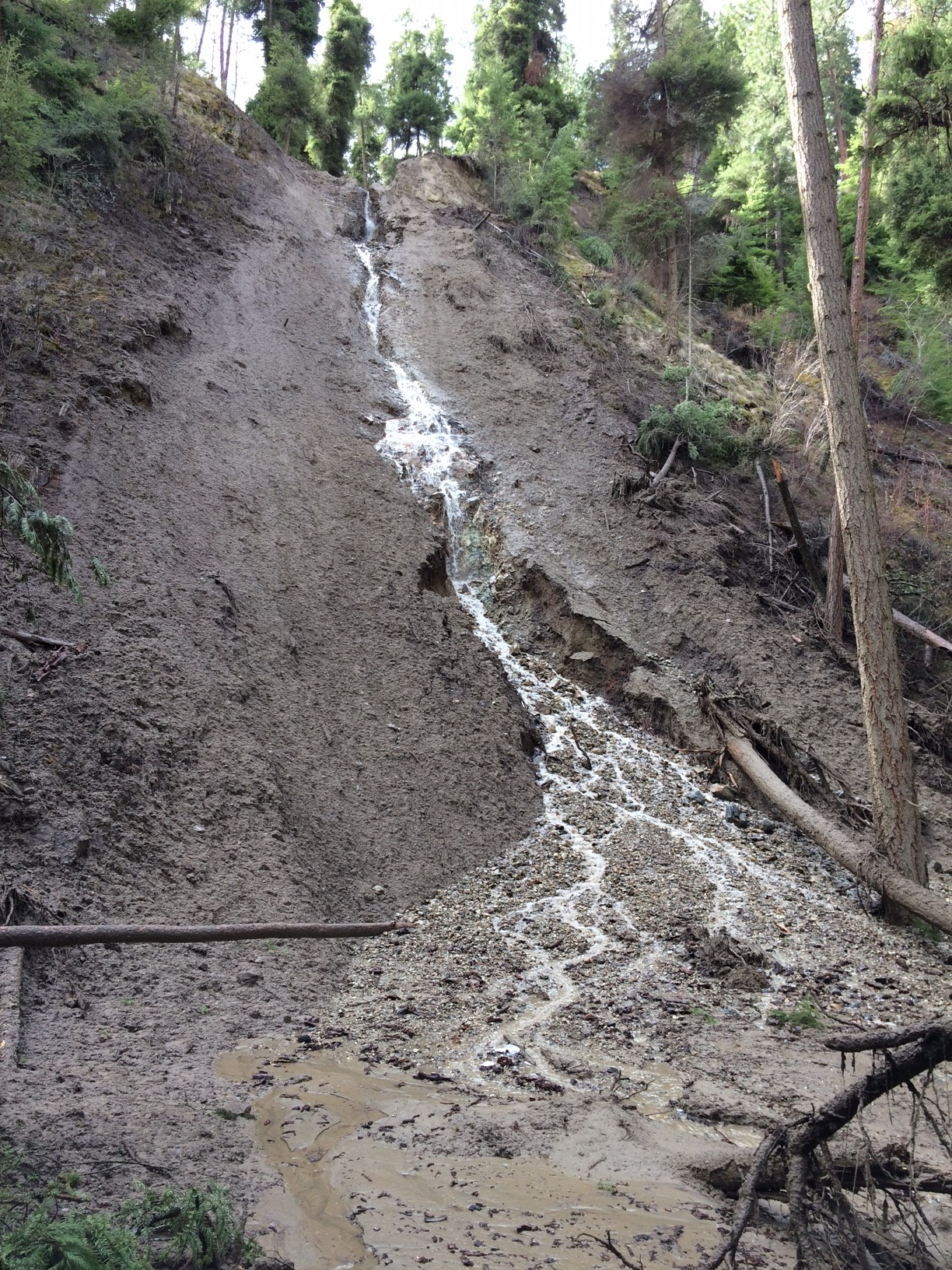 Mission Creek Greenway closures from washout slides