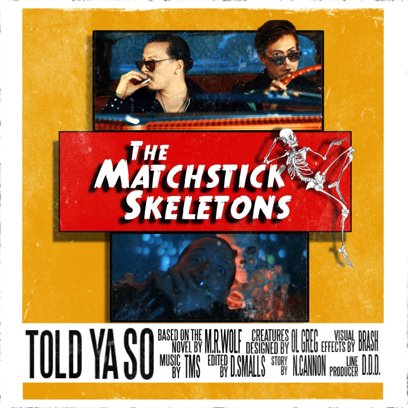 "Hey...remember Neu & Matty from Head of the Herd?  Check out their new band The Matchstick Skeletons & new single ""Told Ya So"""
