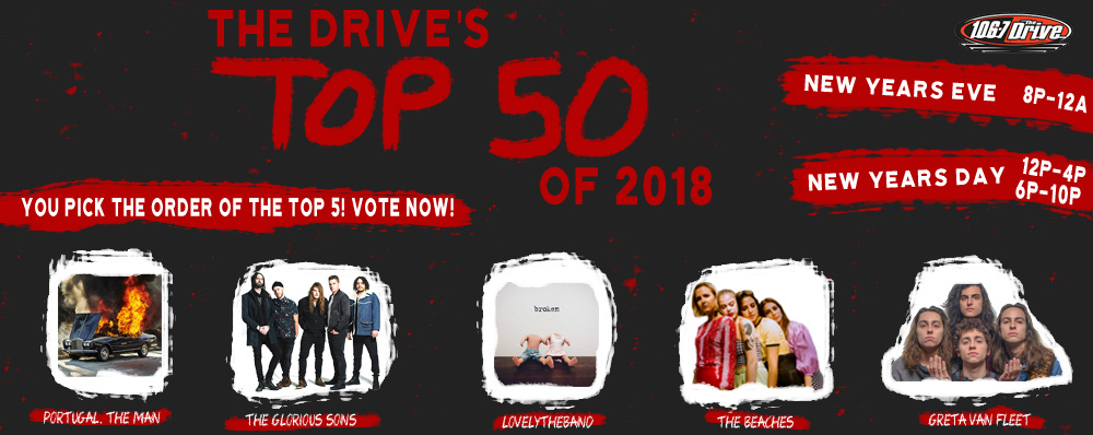 Feature: https://www.1067thedrive.fm/top-50-of-2018/