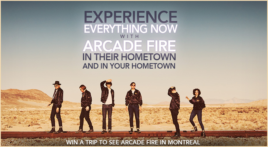 Win a trip to see Arcade Fire in Montreal