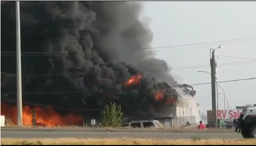 Fire in Abbotsford