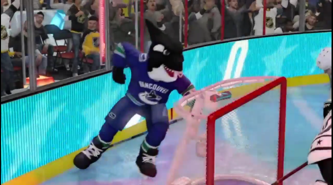 WATCH: Canucks Mascot Glitch in NHL 18