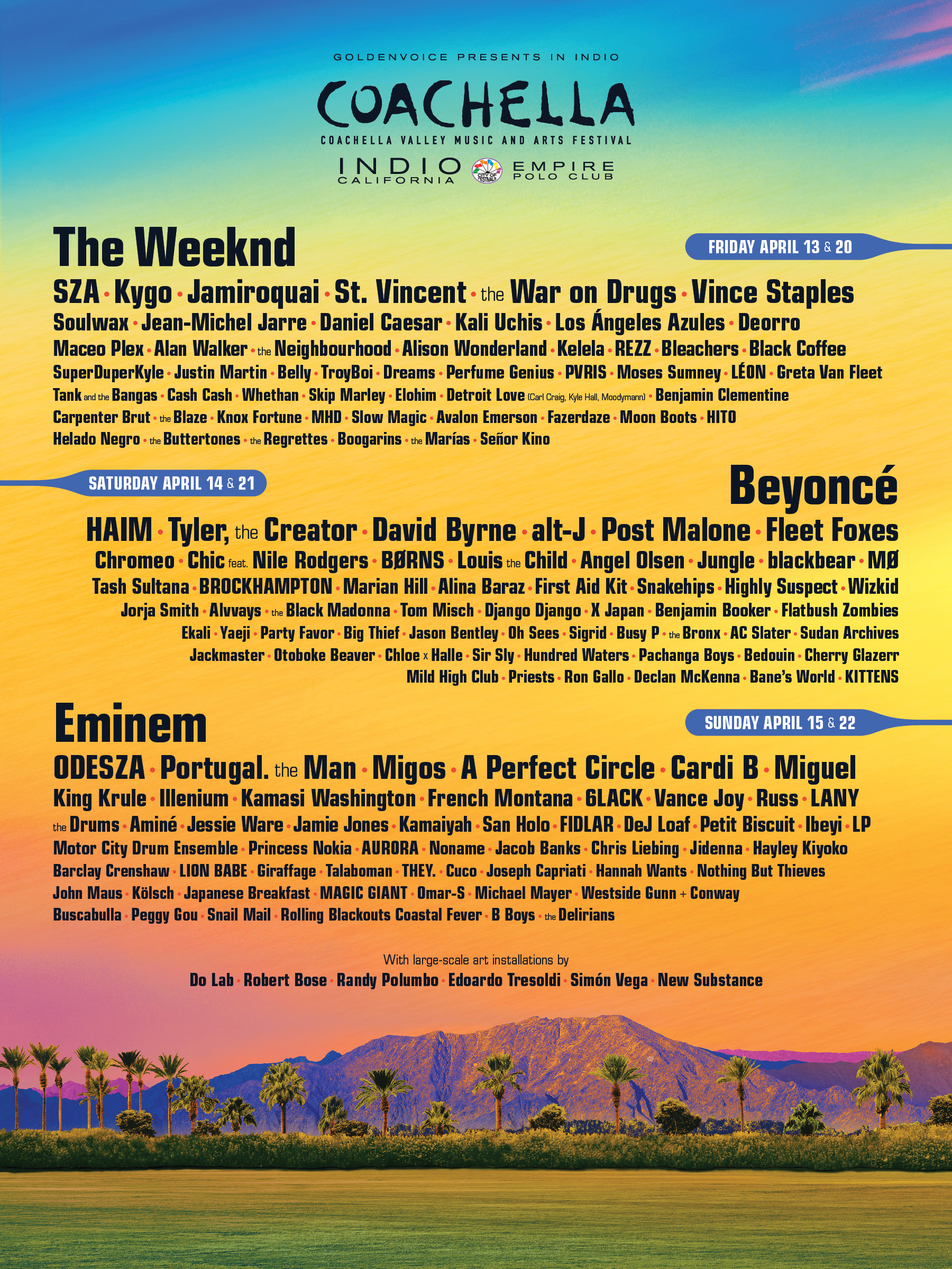 Coachella 2018 lineup revealed
