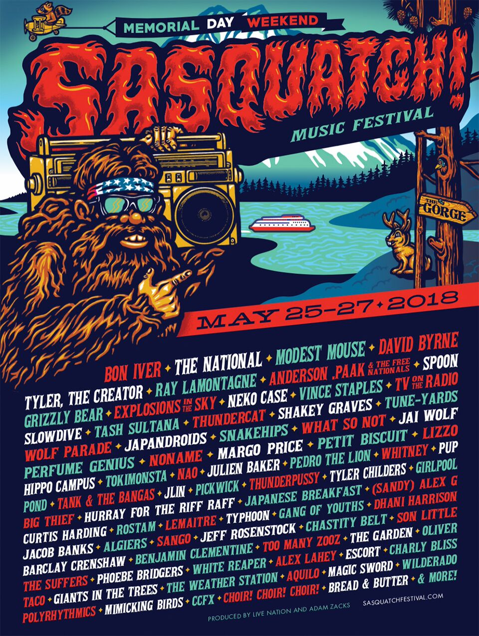 Sasquatch! 2018 Lineup is here...