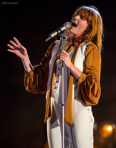 Florence Welch sings with the Stones