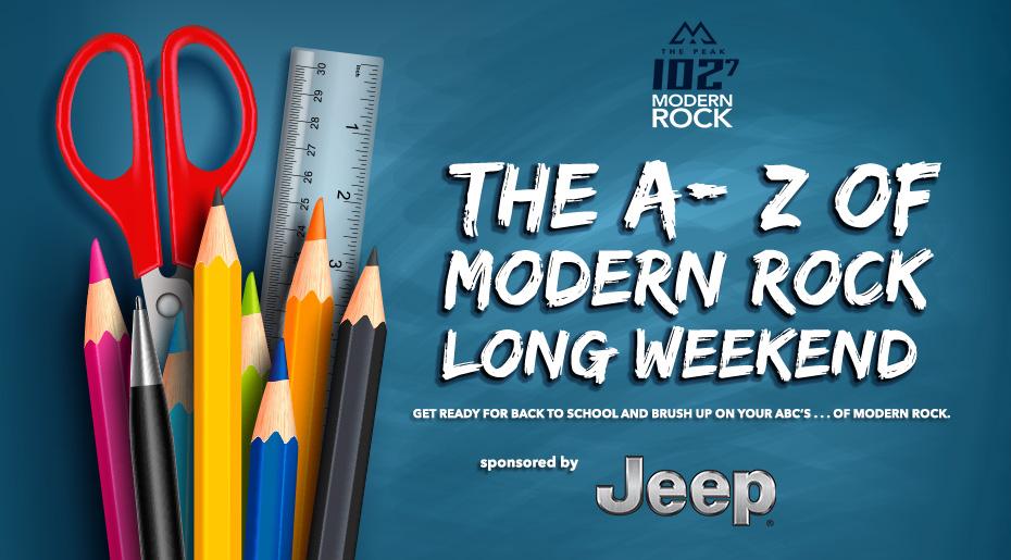 A to Z of Modern Rock Long Weekend