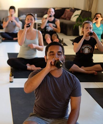 First Goat Yoga, Now Beer Yoga??