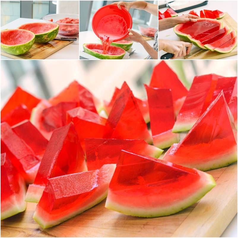 Watermelon Jell-O Shots are pretty darn COOL! Here's How!