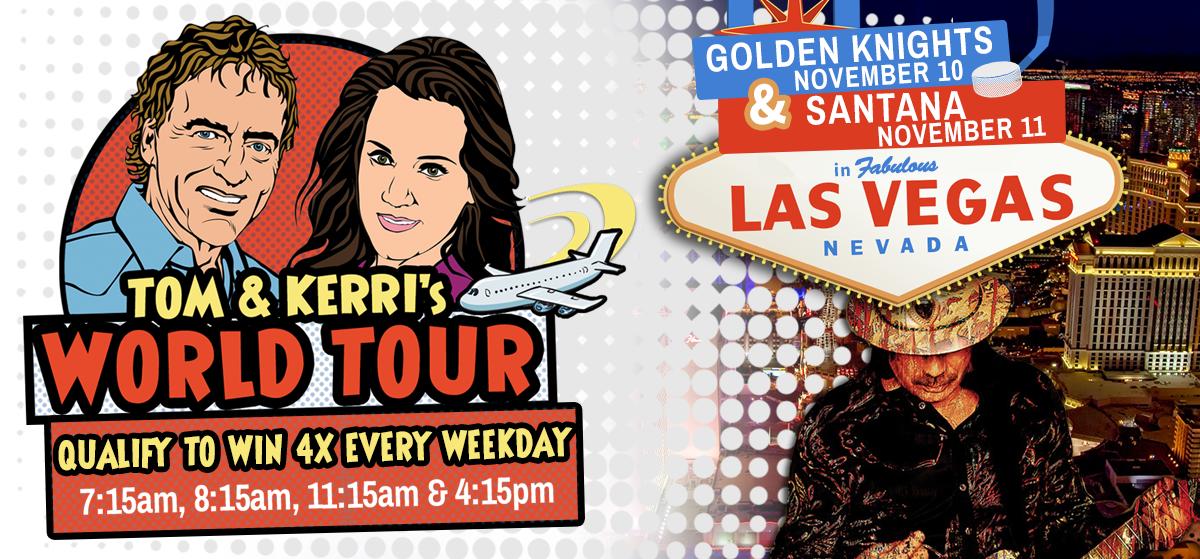 Tom & Kerri's World Tour #10 – Hockey & Santana in Las Vegas