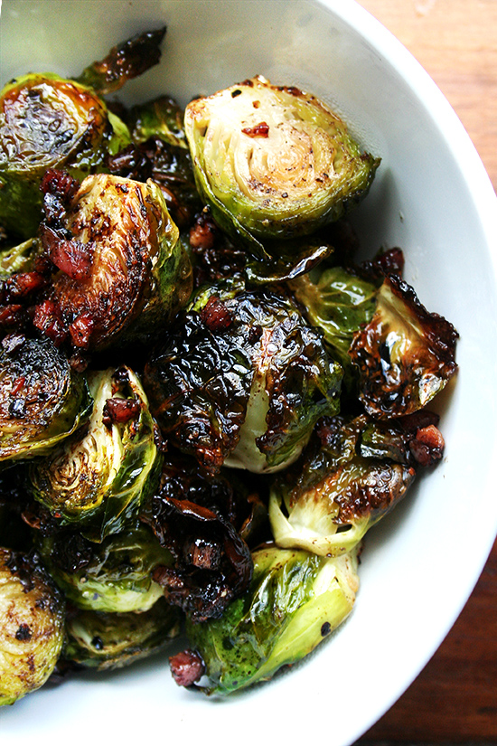 Yum!!! Brussel Sprouts with Bacon!