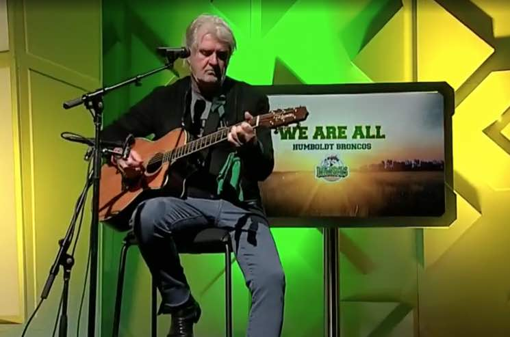 "WATCH: Tom Cochrane turns his hit ""Big League"" into acoustic Humboldt tribute."