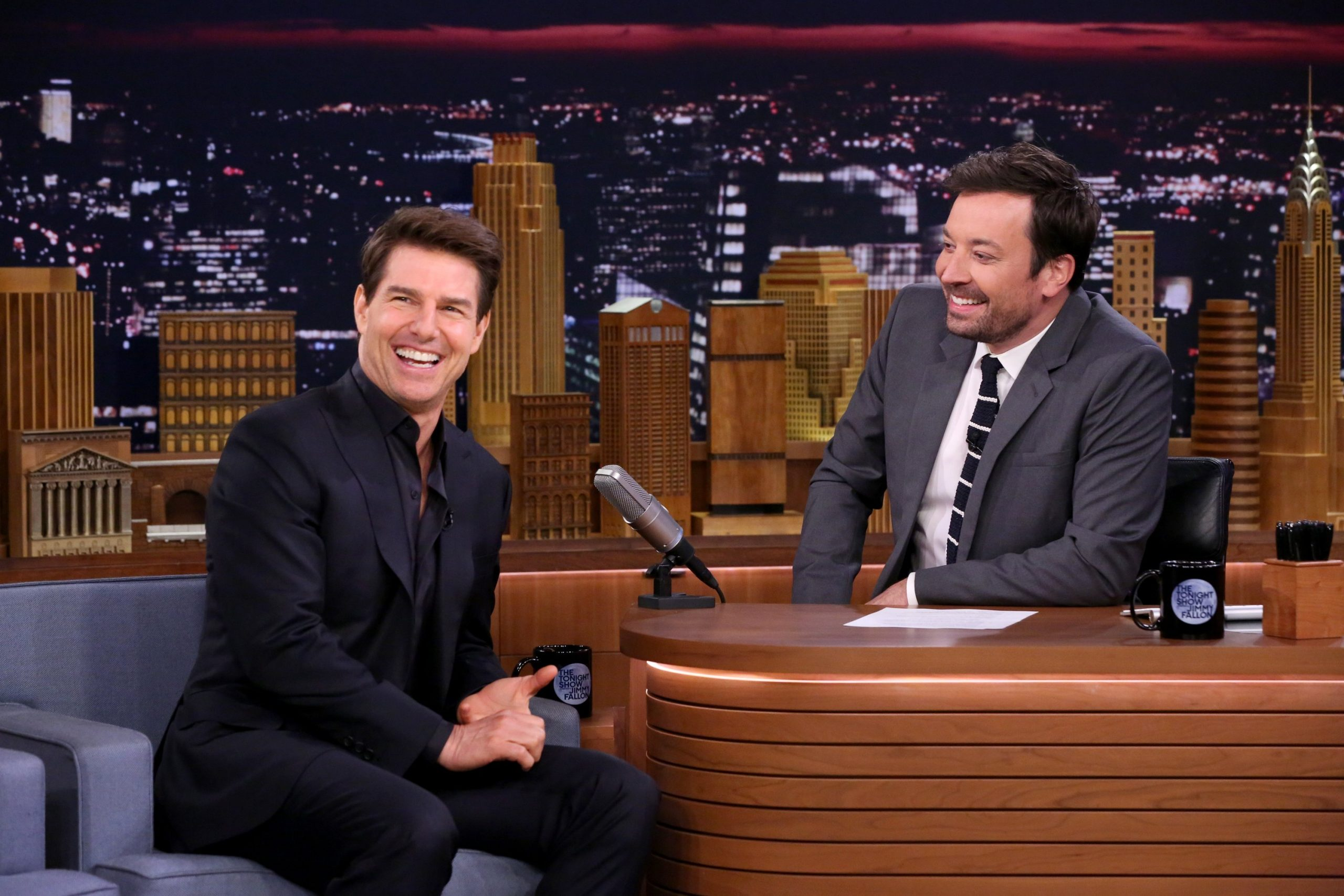 Jimmy Fallon and Tom Cruise together again.....it's a gigglefest.