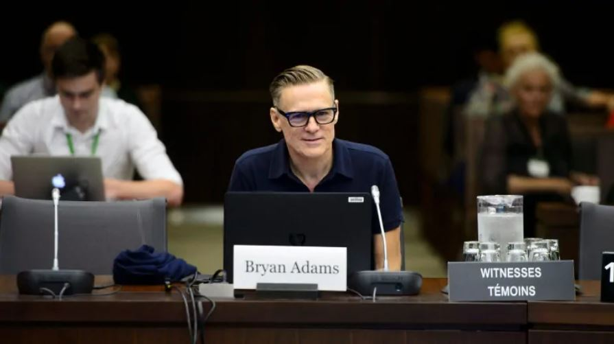 Bryan Adams steps up to advocate for his fellow musicians.
