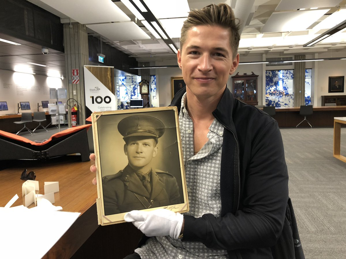 Journalist finds grandfather's personal 75-year-old photo album in New Zealand national library.