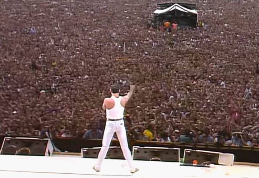 WATCH: Freddie Mercury and Queen's legendary Live Aid performance.