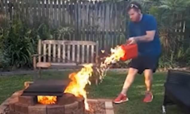 WATCH: Hey Bub...that fire is already going strong. I wouldn't add ga...