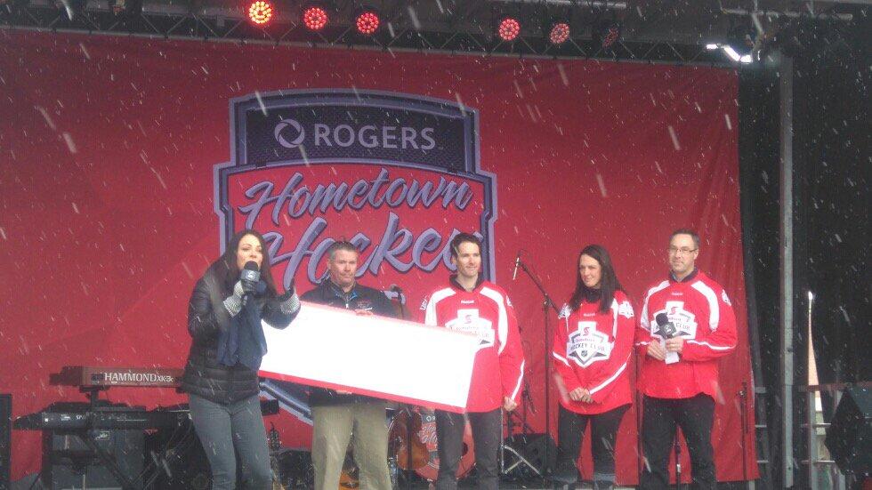 CMHA receives $15K on Hometown Hockey weekend