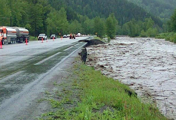 Weather playing big role with flood concerns in Fernie