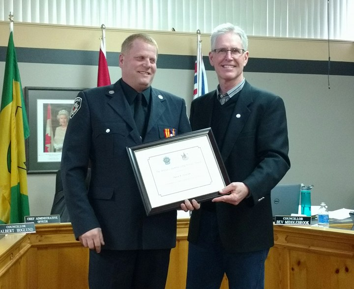 Kimberley firefighter recognized for 25 years on the job