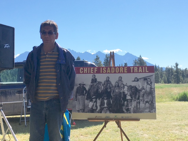 Great, great, great grandson of Chief Isadore overwhelmed by local trail