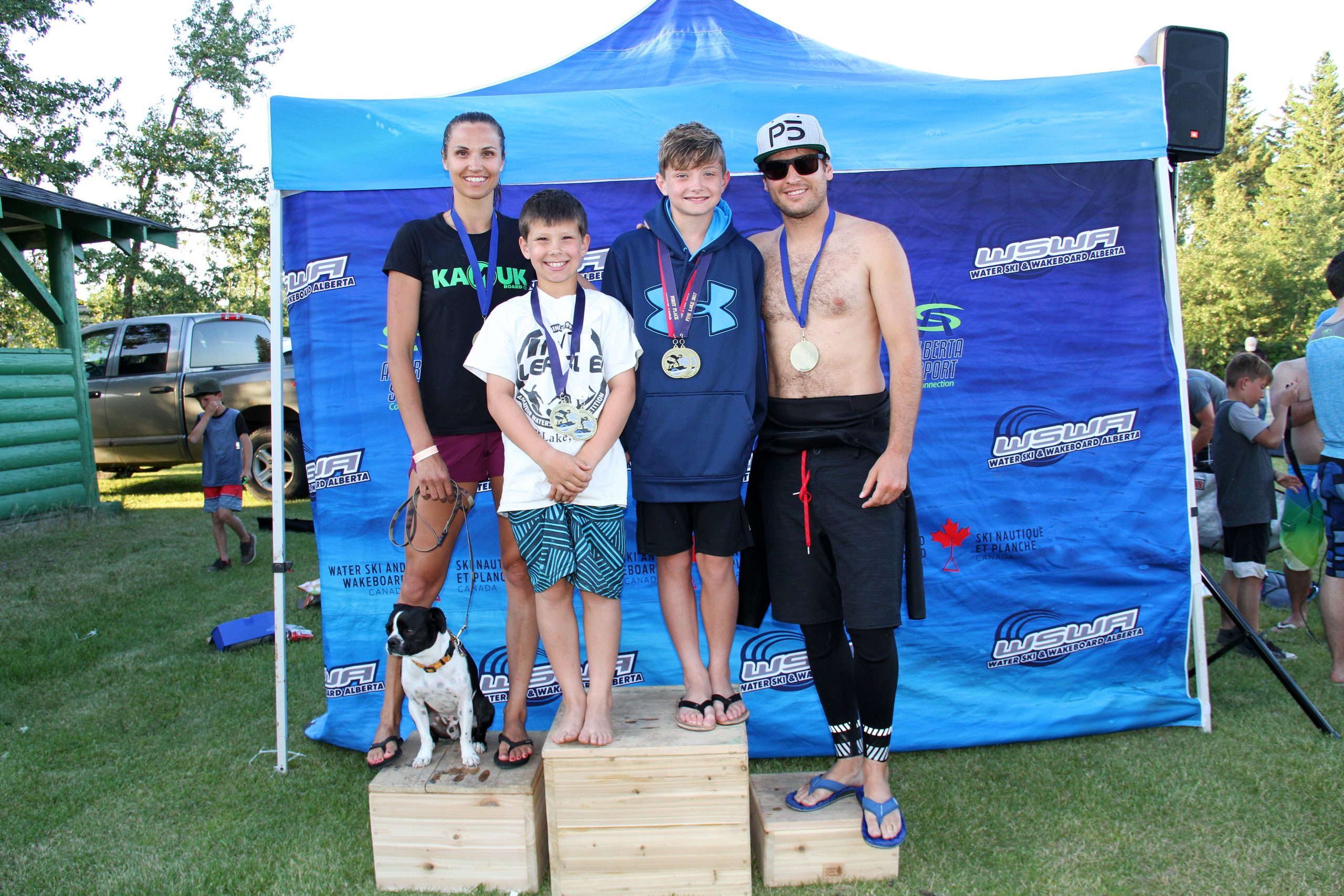 Podium finishes for EK wakeboarders in Alberta