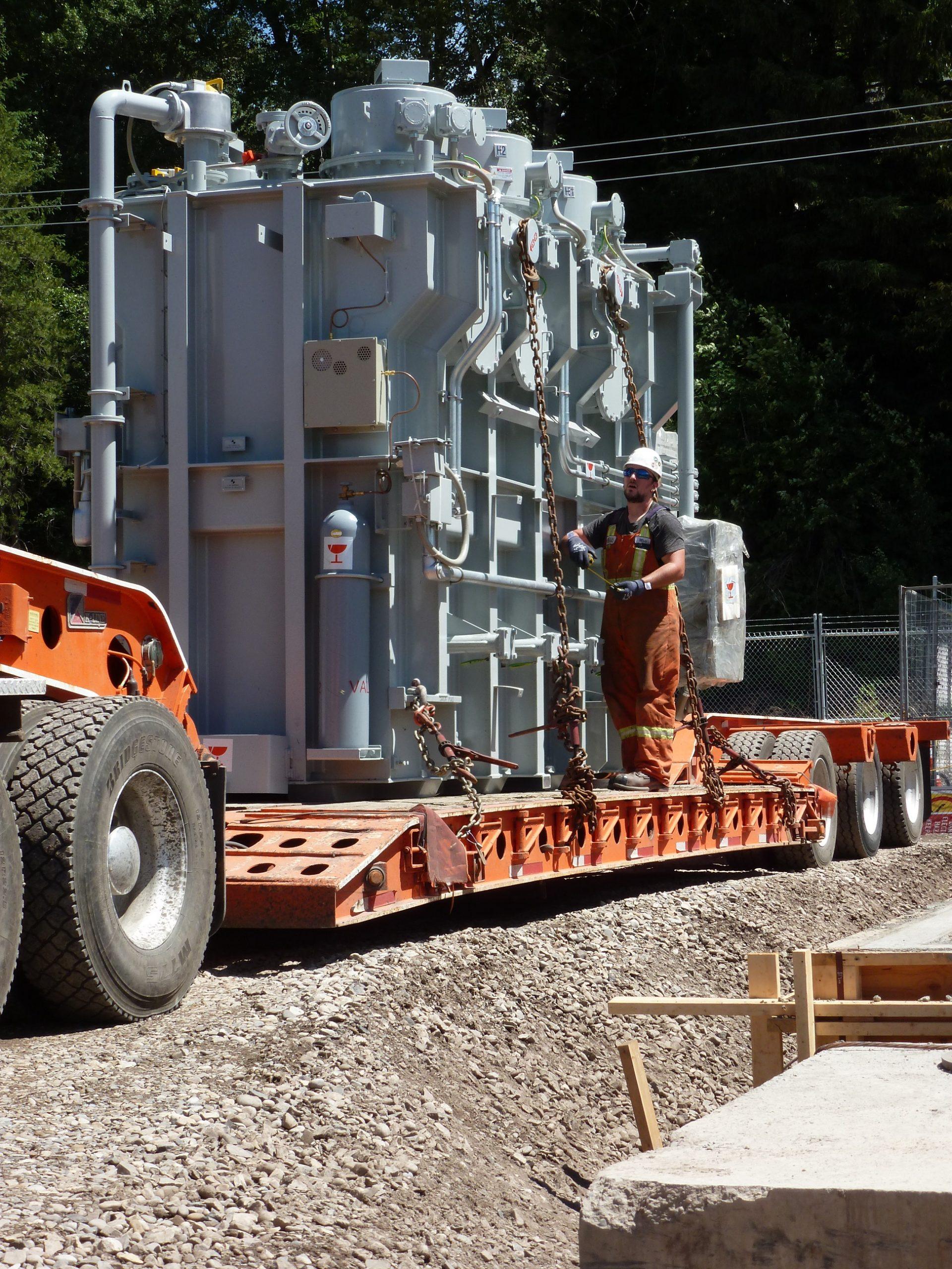 New transformer arrives at Fernie substation