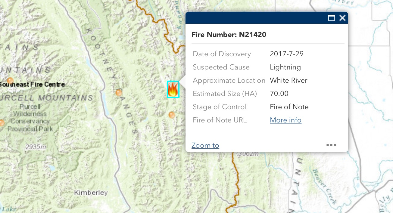 Fire east of Fairmont burning 70 hectares