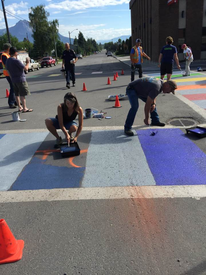 Response to rainbow crosswalk vandalism shows Fernie's true colours