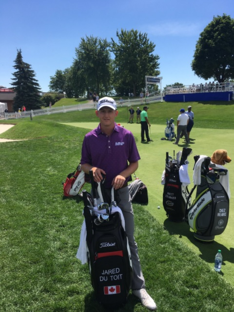 Kimberley's du Toit finishes day one at Canadian Open