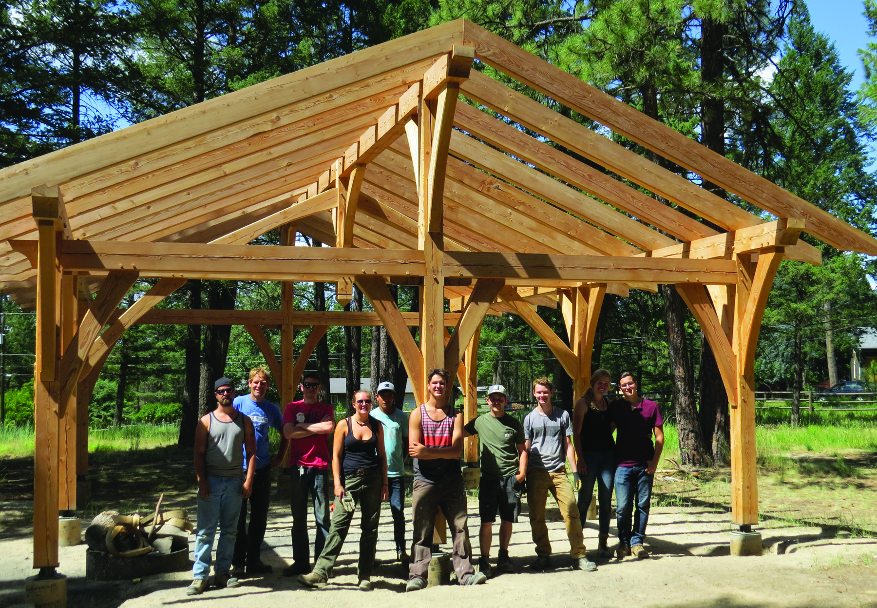 COTR Carpentry students construct community projects